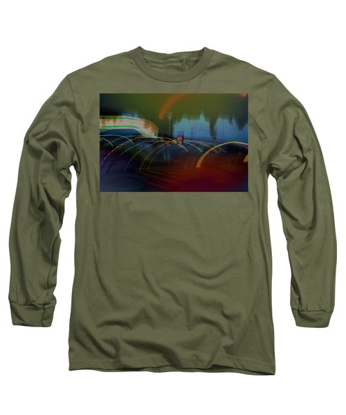 Walking In Carnival Lights Long Sleeve T-Shirt