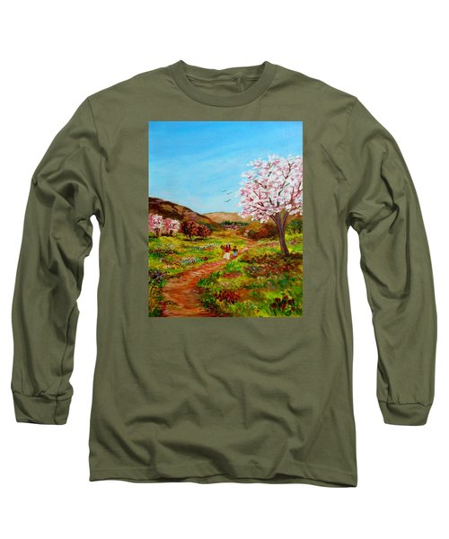 Walking Into The Springfields Long Sleeve T-Shirt