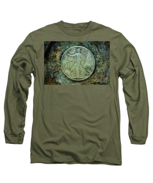 Walking Liberty Half Dollar Obverse Long Sleeve T-Shirt