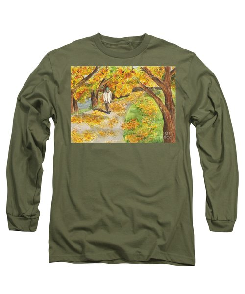 Walking The Truckee River Long Sleeve T-Shirt by Vicki  Housel