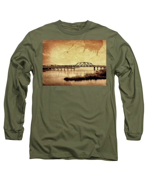 Walkway Over The Sound, Topsail Beach, North Carolina Long Sleeve T-Shirt