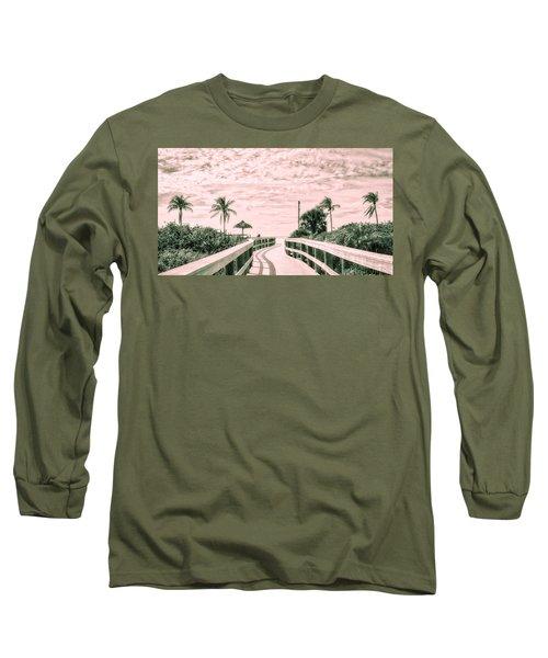Walkway To The Beach Long Sleeve T-Shirt by Robert FERD Frank