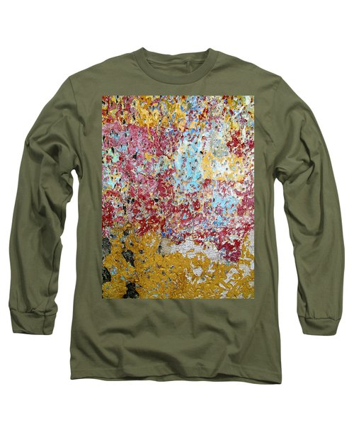 Wall Abstract 123 Long Sleeve T-Shirt by Maria Huntley