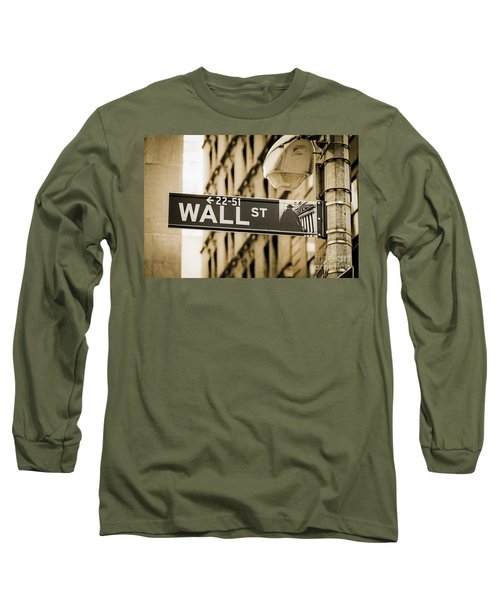 Long Sleeve T-Shirt featuring the photograph Wall Street by Juergen Held