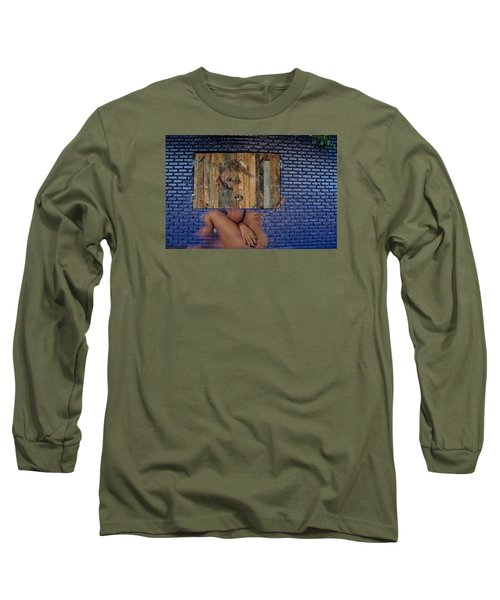 Long Sleeve T-Shirt featuring the photograph Wallflower by Harry Spitz