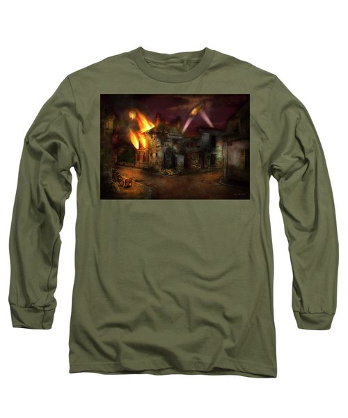 War - Wwi - Not Fit For Man Or Beast 1910 Long Sleeve T-Shirt by Mike Savad