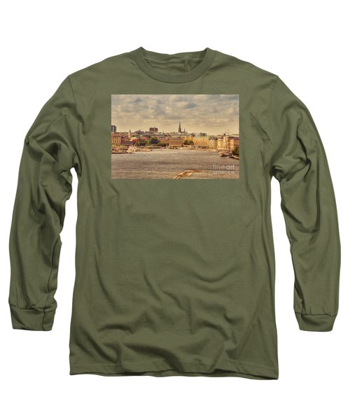Warm Stockholm View Long Sleeve T-Shirt by RicardMN Photography