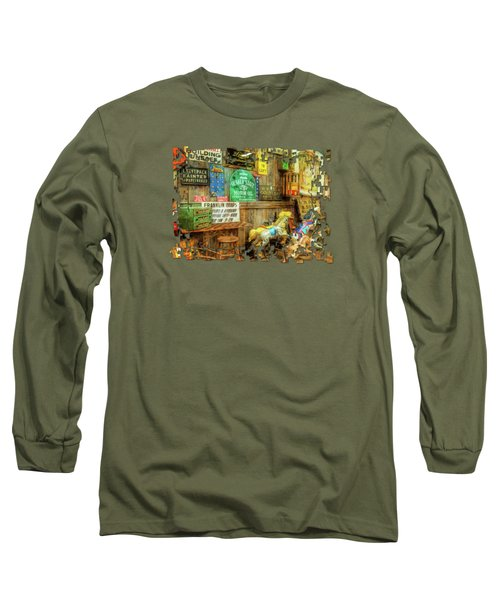 Warning Building Unsafe Long Sleeve T-Shirt