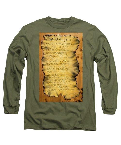 War's Poem Long Sleeve T-Shirt