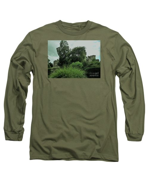 Warwick Castle Bathed In Green Light Long Sleeve T-Shirt