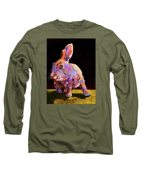 Long Sleeve T-Shirt featuring the painting Wary by Bob Coonts