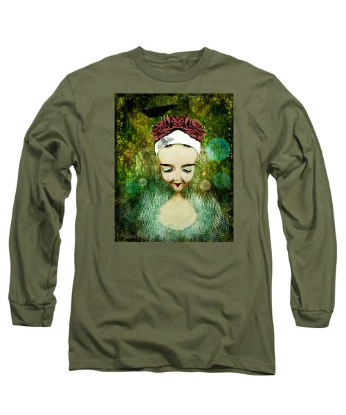 Long Sleeve T-Shirt featuring the digital art Wash Your Face Each Night by Delight Worthyn