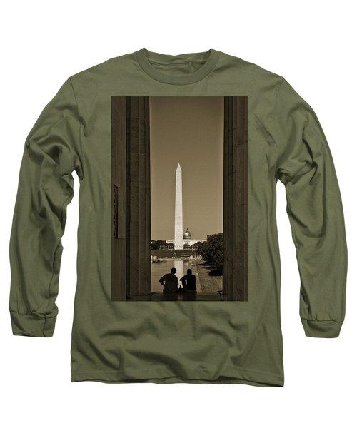 Washington Monument And Capitol #4 Long Sleeve T-Shirt