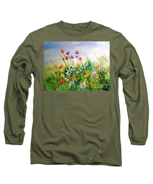 Washington Wildflowers Long Sleeve T-Shirt