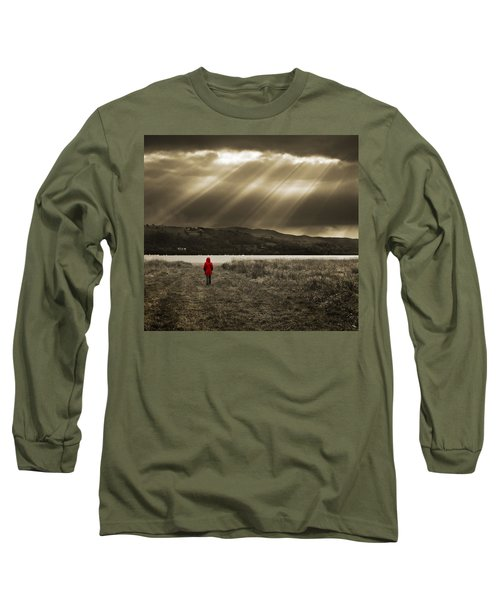 Watching In Red Long Sleeve T-Shirt