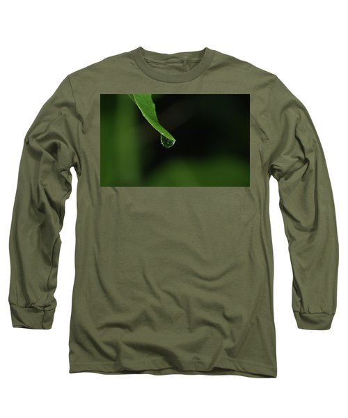 Long Sleeve T-Shirt featuring the photograph Water Drop by Richard Rizzo