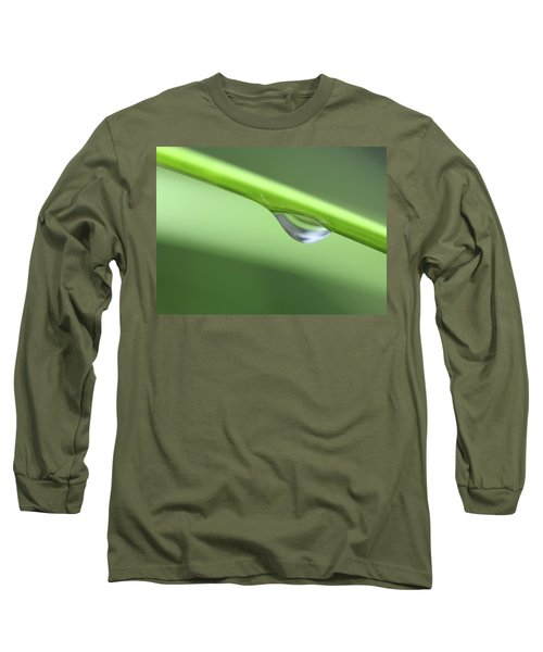 Long Sleeve T-Shirt featuring the photograph Water Droplet II by Richard Rizzo