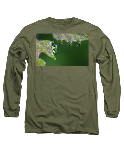 Long Sleeve T-Shirt featuring the photograph Water Droplet IIi by Richard Rizzo