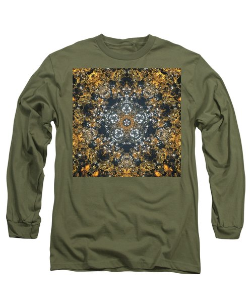 Long Sleeve T-Shirt featuring the mixed media Water Glimmer 5 by Derek Gedney
