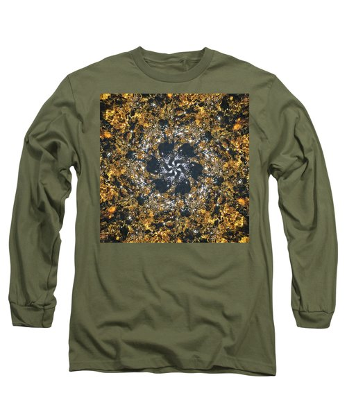 Long Sleeve T-Shirt featuring the mixed media Water Glimmer 6 by Derek Gedney