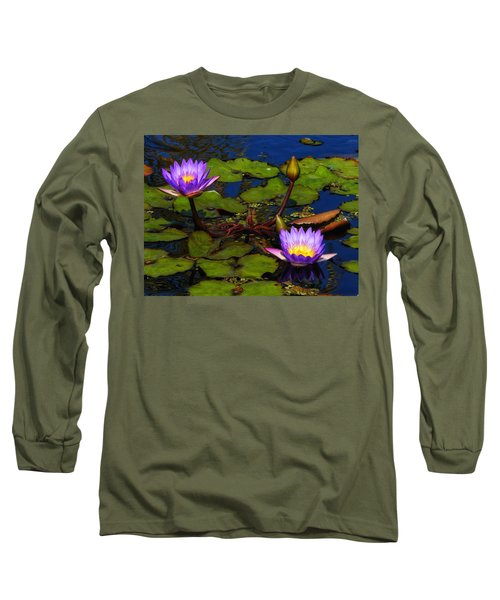Water Lilies Iv Long Sleeve T-Shirt