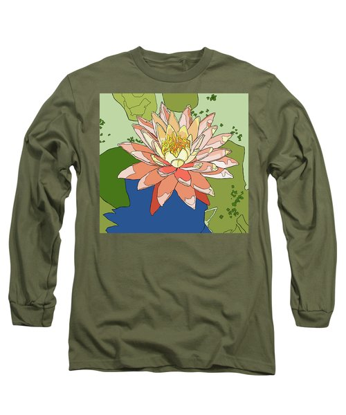 Water Lily And Duck Weed Long Sleeve T-Shirt by Jamie Downs
