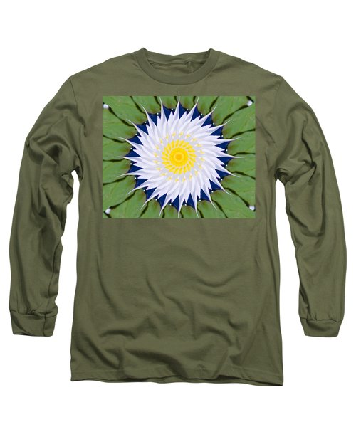 Water Lily Kaleidoscope Long Sleeve T-Shirt by Bill Barber