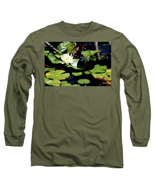 Long Sleeve T-Shirt featuring the photograph Water Lily by Meta Gatschenberger