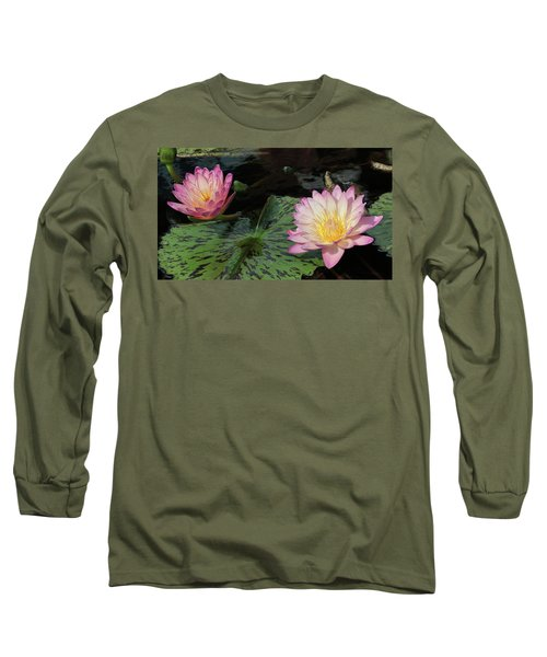 Water Lily Pair Long Sleeve T-Shirt