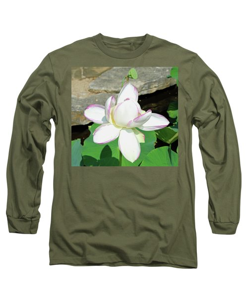 Water Lotus Long Sleeve T-Shirt by Inspirational Photo Creations Audrey Woods