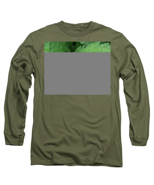 Water On The Fronds Long Sleeve T-Shirt