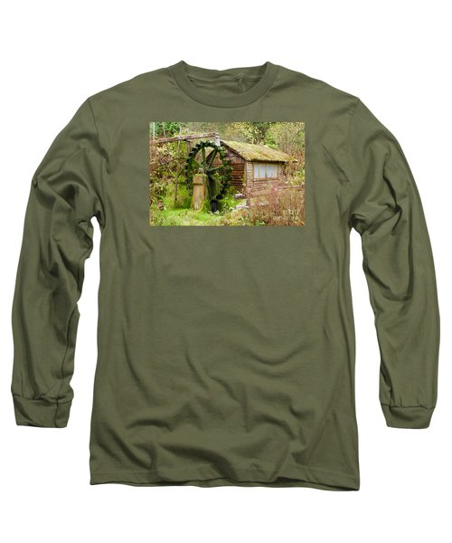 Water Wheel Long Sleeve T-Shirt by Sean Griffin
