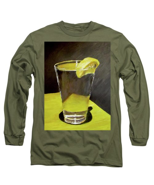 Water With A Lemon...please Long Sleeve T-Shirt
