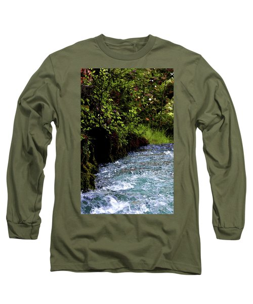 Watercolor Big Springs Missouri 2125 W_2 Long Sleeve T-Shirt