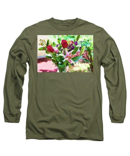 Watercolor Bouquet Long Sleeve T-Shirt