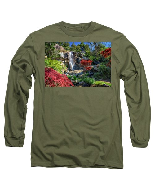 Long Sleeve T-Shirt featuring the photograph Waterfall At Maymont by Rick Berk