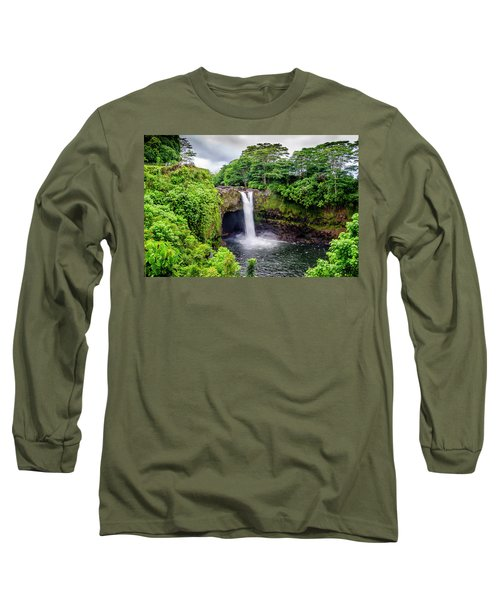 Waterfall Into The Valley Long Sleeve T-Shirt