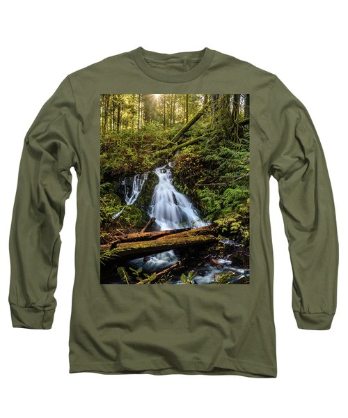 Waterfall Long Sleeve T-Shirt by Keith Boone