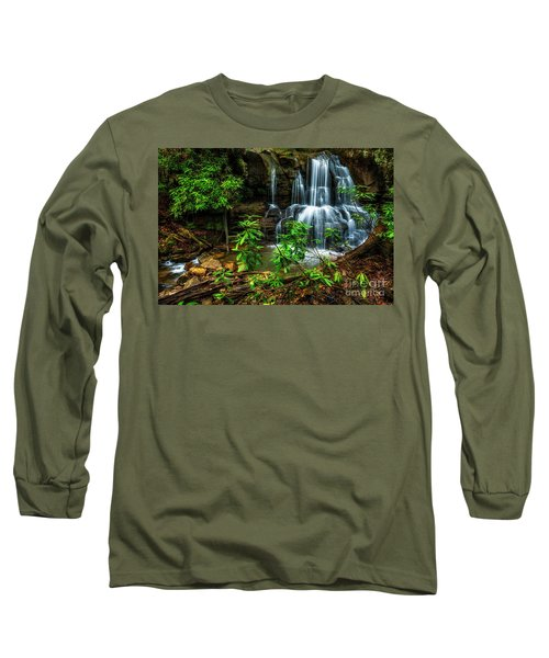 Long Sleeve T-Shirt featuring the photograph Waterfall On Back Fork by Thomas R Fletcher