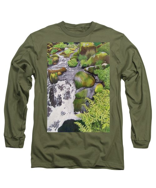 Waterfall On Skye Long Sleeve T-Shirt