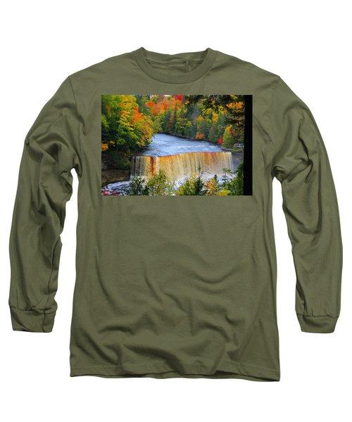 Waterfalls Of Michigan Long Sleeve T-Shirt by Michael Rucker
