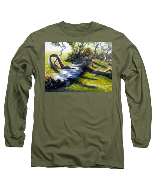 Waterfront And T St In Eureka  Long Sleeve T-Shirt