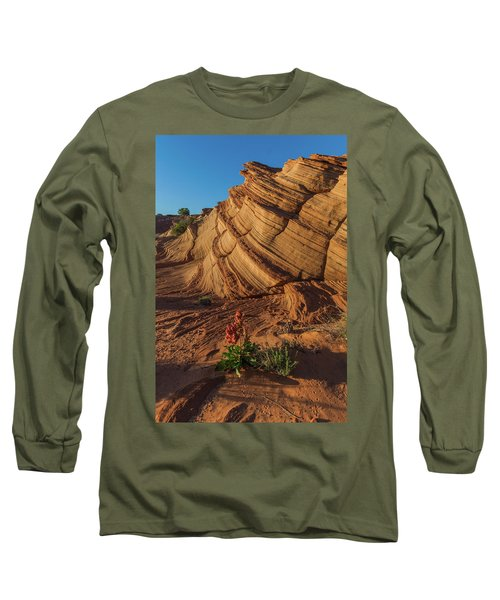 Waterhole Canyon Evening Solitude Long Sleeve T-Shirt