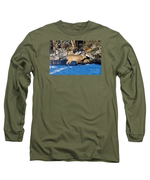 Waterhole Gathering Long Sleeve T-Shirt by Sandra Updyke