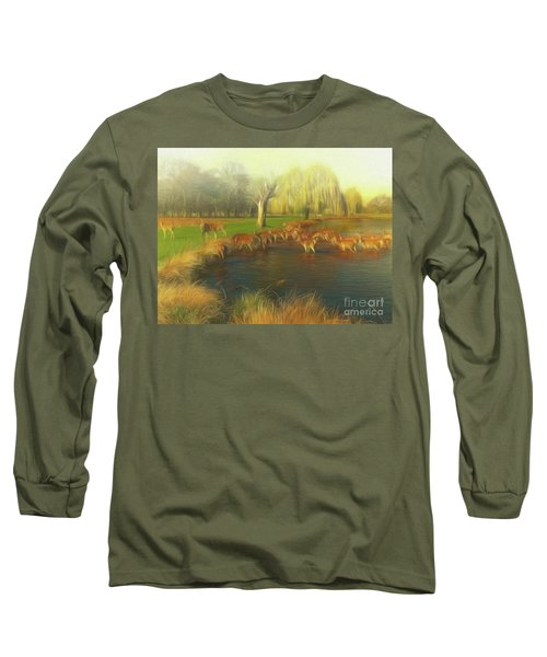 Long Sleeve T-Shirt featuring the photograph Watering Hole by Leigh Kemp