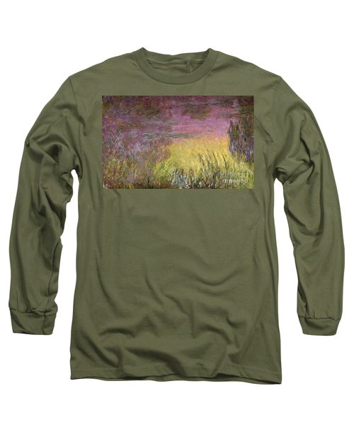 Waterlilies At Sunset Long Sleeve T-Shirt