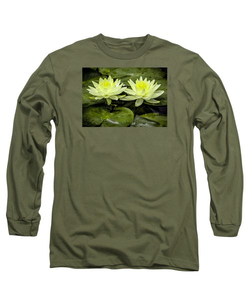 Waterlily Duet Long Sleeve T-Shirt by Venetia Featherstone-Witty
