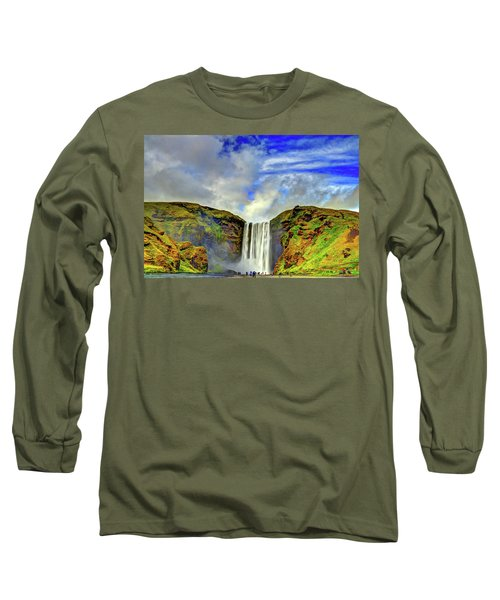 Long Sleeve T-Shirt featuring the photograph Watermall And Mist by Scott Mahon
