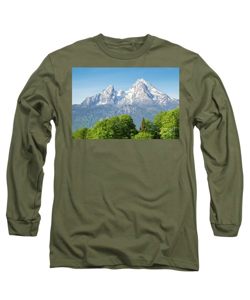 Watzmann Long Sleeve T-Shirt by JR Photography