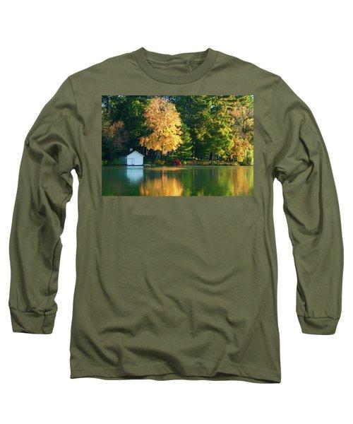 Waupaca Chain Boathouse Long Sleeve T-Shirt by Trey Foerster